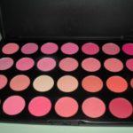 Testei: Paleta 28 blushes