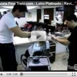 Vídeo Transformação cabelo Loiro