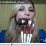 Vídeo: Kit de pincéis Branco e Rosa