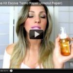 Resenha em vídeo: Linha Absolut Repair (produtos da escova termo Repair)