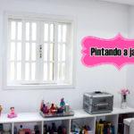 Pintando a janela de branco/ Decoração do Home Office
