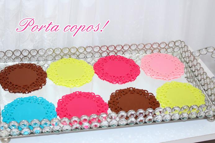 Porta copos coloridos AliExpress