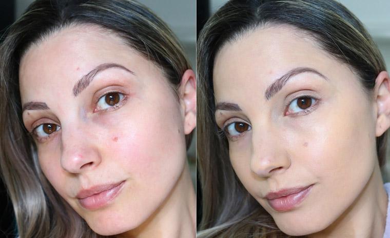antes e depois Resenha: BB cream Super Fixo cor clara toque seco