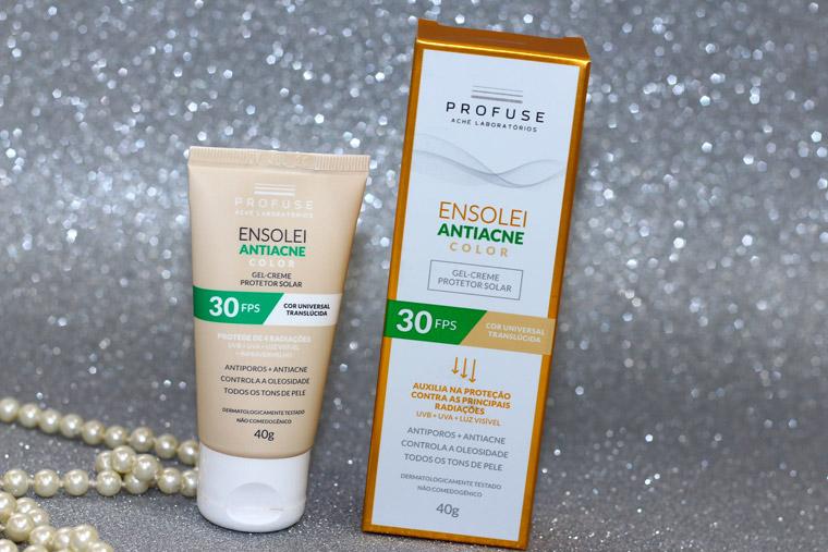 Resenha: Ensolei anti-acne Profuse proteção UVA, UVB e luz visível
