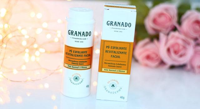 Resenha: pó esfoliante revitalizannte facial Granado | Granaderma