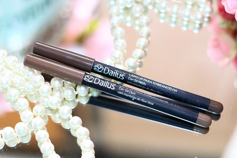 Resenha: lápis para sobrancelha Dailus cor 04 claro e 06 médio
