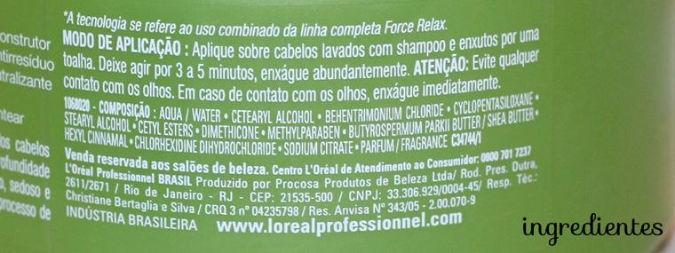 Resenha: Loreal Force Relax máscara de nutrição e hidratação
