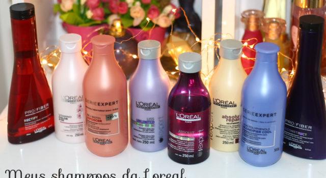 Meus shampoos da Loreal Profissional: pra que serve cada um! (tenho 9)